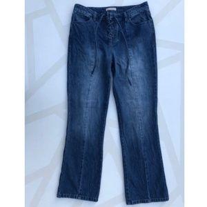 Ulla Johnson Jeans - Ulla Johnson Alex Lace Up Jeans